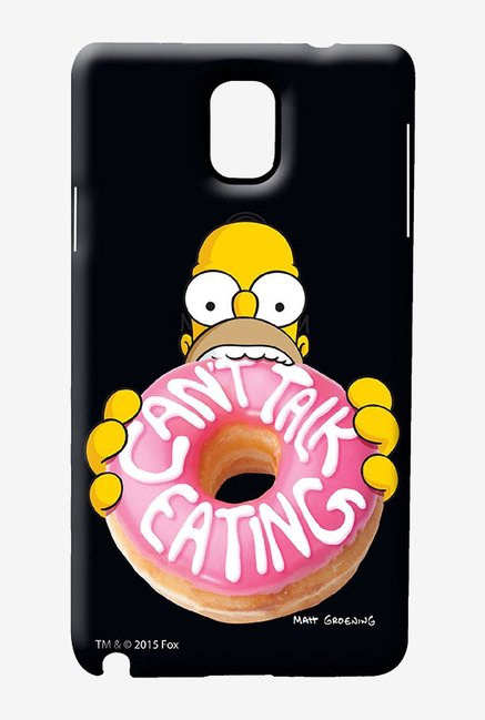Simpsons Cant Talk Eating Black Case for Samsung Note 3