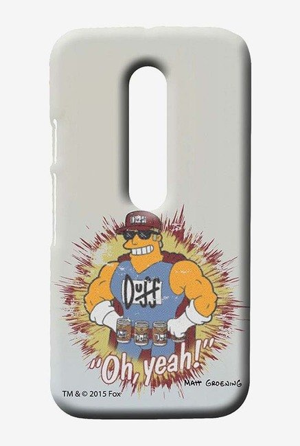 Simpsons Duff Oh Yeah Case for Moto G3