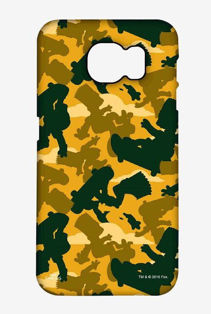 Simpsons Camo Bart Case for Samsung S6