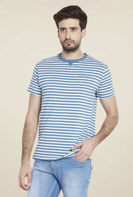 Globus Blue Striped T Shirt