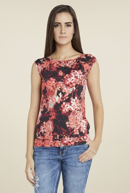 Globus Red Floral Print Top
