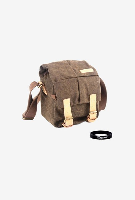 Eggsnow SLR DSLR Compact Camera Messenger Bag (Brown)