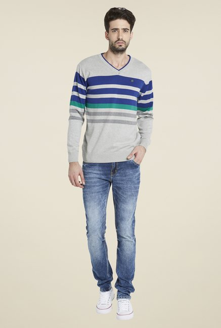 Globus Grey Striped Pullover