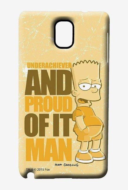 Simpsons Proud Underachiever Case for Samsung Note 3