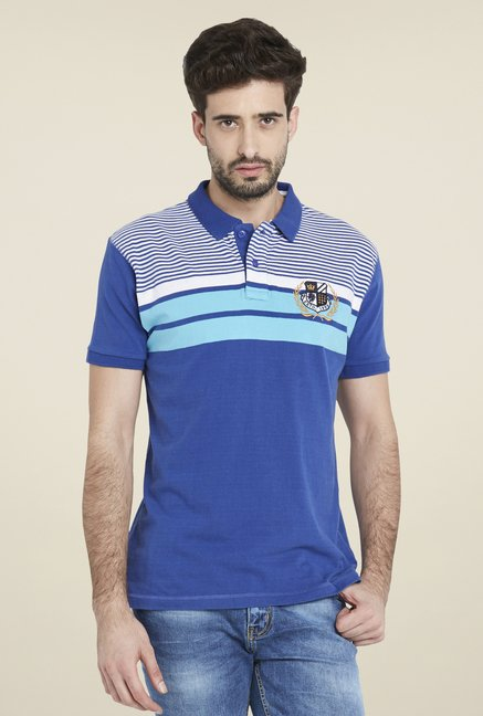 Globus Blue Striped Short Sleeve T Shirt