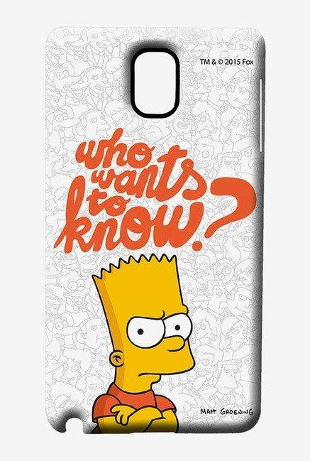 Simpsons Who Wants To Know Case for Samsung Note 3