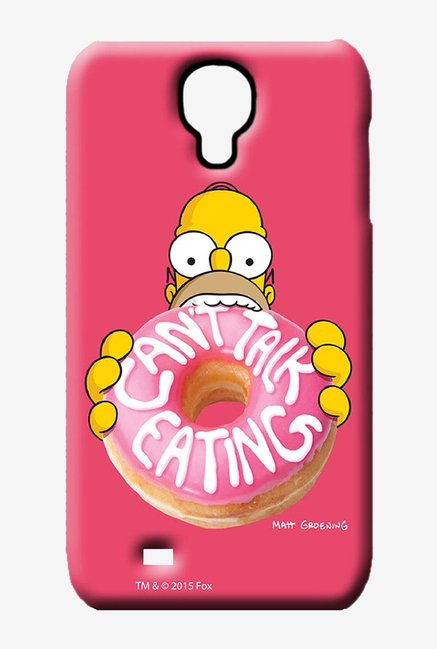 Simpsons Cant Talk Eating Pink Case for Samsung S4