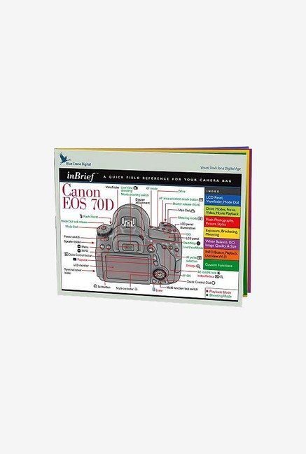 Blue Crane Digital Canon EOS 70D InBrief Laminated Card