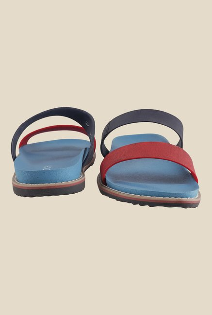 Mochi Red & Navy Casual Sandals