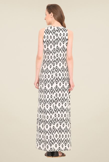 Saiesta White Printed Dress
