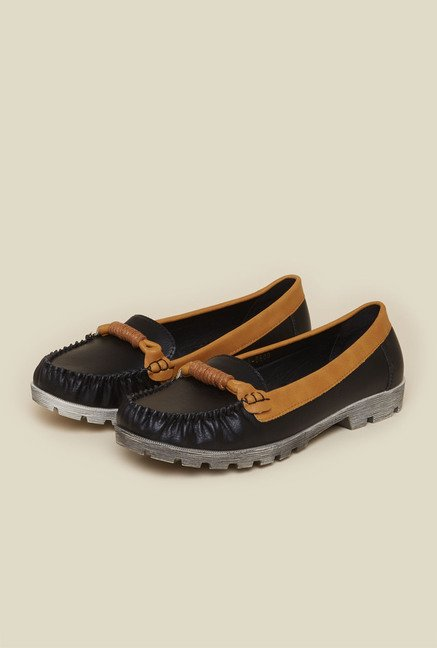 Metro Black Casual Loafers