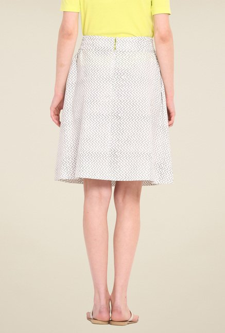 Saiesta White Printed Skirt