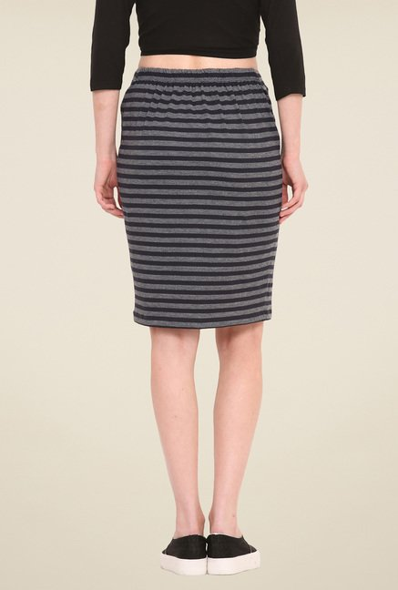 Saiesta Grey Striped Skirt