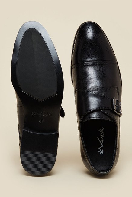Da Vinchi by Metro Black Monk Shoes
