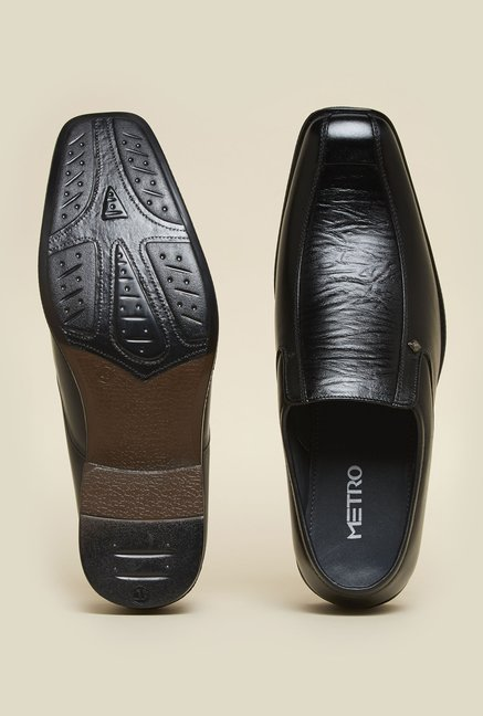 Metro Black Formal Loafers