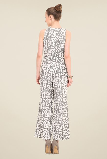 Saiesta White Printed Jumpsuit