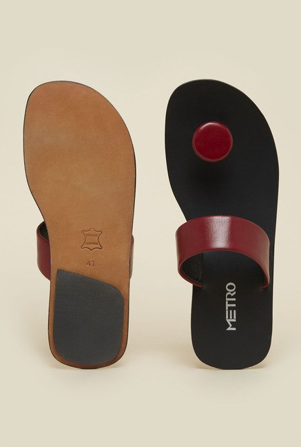 Metro Maroon Casual Sandals