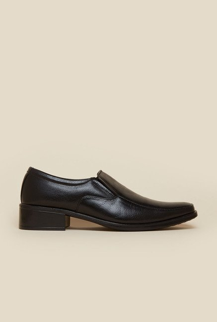 Metro Black Formal Slip-On Shoes