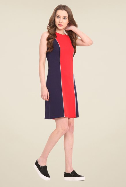 Saiesta Red Solid Dress