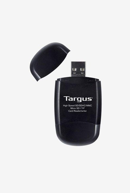 Targus TGR-MSD500 USB 2.0 Digital Card Reader/Writer (Black)