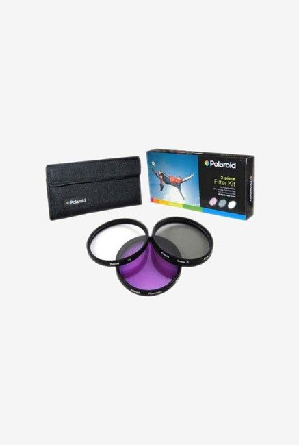 Polaroid PL-3FIL-46 46mm 3 Piece Filter Set (UV, CPL, FLD)