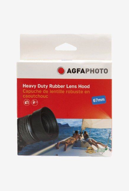 Zeikos Agfa 67 mm Heavy Duty Rubber Lens Hood (Black)