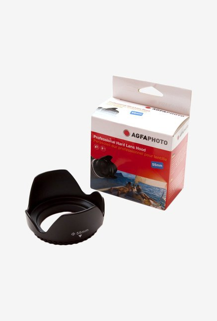 Zeikos Agfa 55 mm Professional Deluxe Hard Lens Hood (Black)