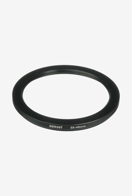 Sensei SDR5849 58-49mm Aluminium Step-Down Ring (Black)