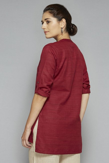 Zuba by Westside Red Solid Kurti