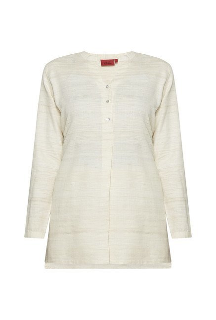 Zuba by Westside Off White Solid Kurti