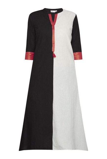 Utsa by Westside Black & White Solid Kurta