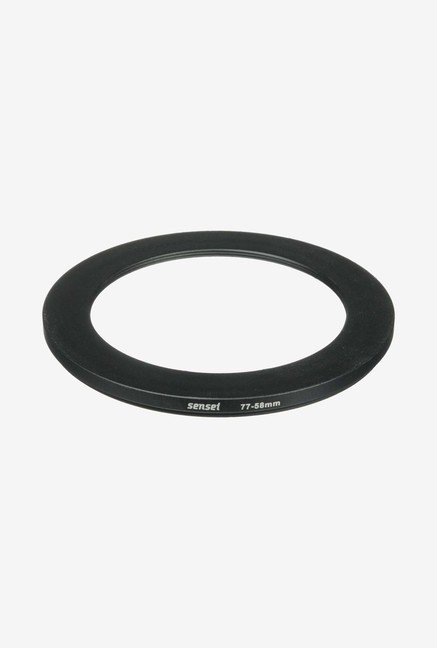 Sensei SDR7758 77-58mm Aluminium Step-Down Ring (Black)