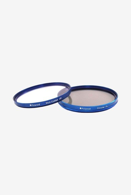 Polaroid PL-FILUVCPL-KBL58 58mm MC Dual Filter Kit (Blue)