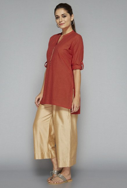 Utsa by Westside Orange Solid Kurti