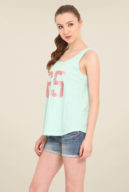 Saiesta Green Printed Top