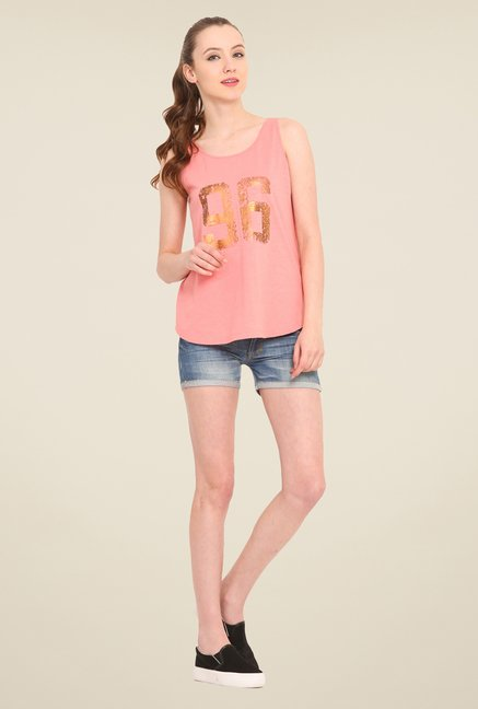 Saiesta Pink Printed Top