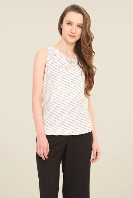 Saiesta White Printed Top