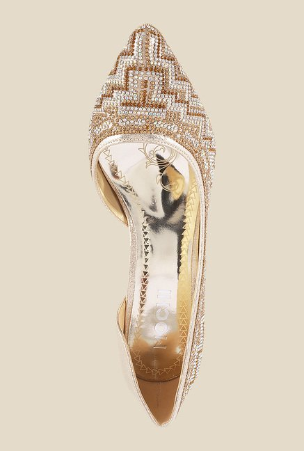 Mochi Golden D'orsay Shoes