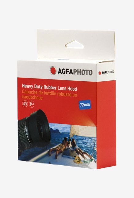 Zeikos Agfa 72 mm Heavy Duty Rubber Lens Hood (Black)