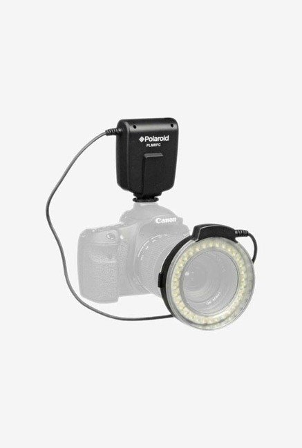 Polaroid PL-MRFC Macro Led Ring Flash & Light-Black