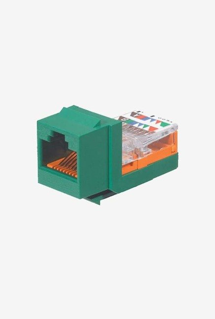 Panduit NK5E88MGRY Category-5E 8-Wire Jack Module (Green)