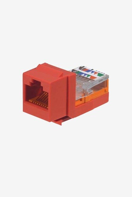 Panduit NK5E88MRDY Category-5E 8-Wire Jack Module (Red)