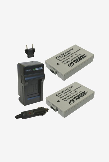Wasabi Power Battery 2-Pack and Charger for Canon (Black)