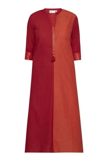 Utsa by Westside Red & Orange Solid Kurta