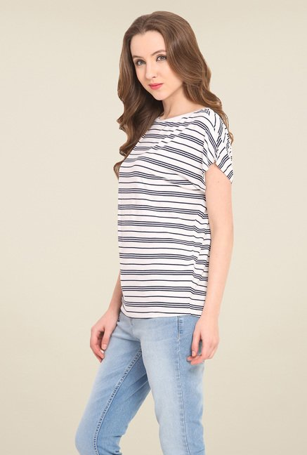 Saiesta White Striped Top