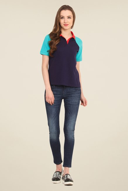 Saiesta Navy Solid Top