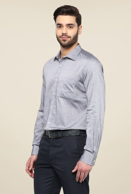 Turtle Grey Solid Full Sleeve Shirt