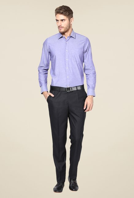 Turtle Purple Solid Slim-fit Shirt