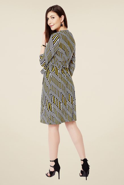 Avirate Multicolor Printed Wrap Dress