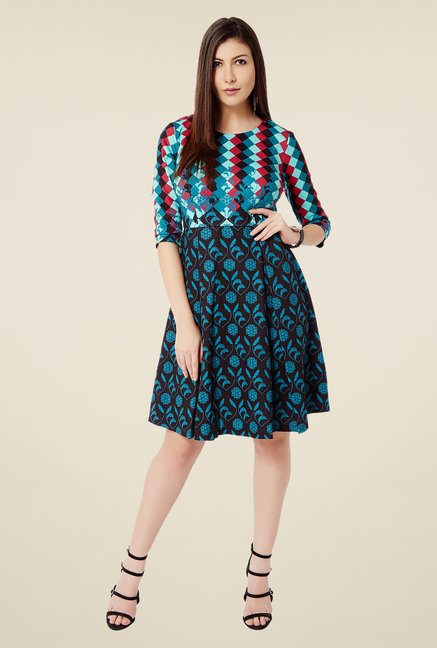 Avirate Multicolor Floral Print Dress